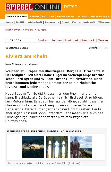 Literatur fireshot capture 3 siebengebirge riviera am for Spiegel zeitung